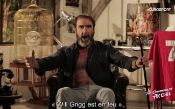Eric Cantona chante 'Will Grigg's on fire' la chanson de l'Euro 2016