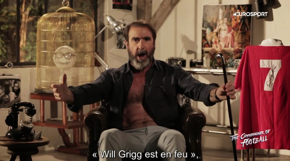 Eric Cantona chante'Will Grigg's on fire'