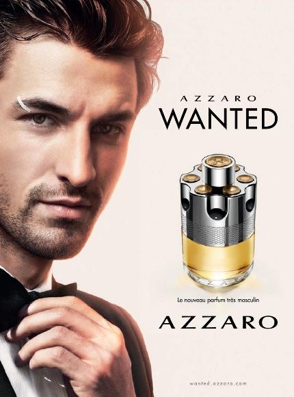 Nikolaï Danielsen sur l'affiche publicitaire Azzaro Wanted 2016