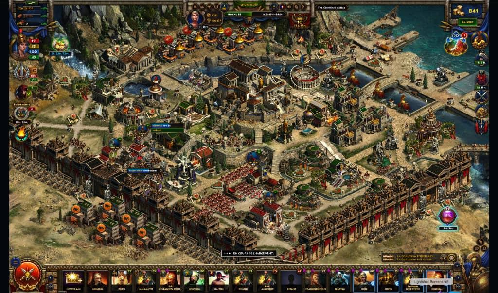 Sparta War of Empires gameplay bataille