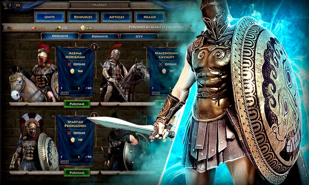 Sparta War of Empires gameplay skin