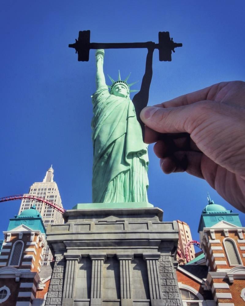 paperboyo : Statue de la Liberté de Las Vegas