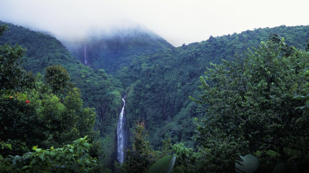 Chutes du Carbet dans le parc national de Guadeloupe