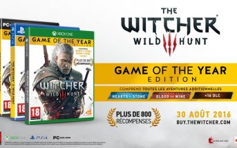 The Witcher 3 de retour avec une édition Game of the Year 2016