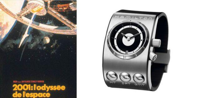 """montre futuriste Hamilton dans """"2001, l'Odyssée de l'Espace"""" de Stanley Kubrick"""