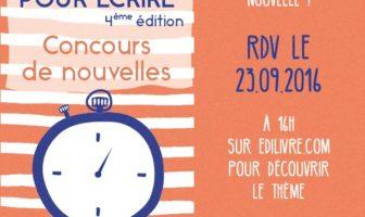 48 heures pour écrire 2016 : 4e édition du concours de nouvelles Edilivre