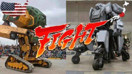 Le combat de robots géants opposera le Mark II de megabots (USA) au Kurata deSuidobashi (Japon)