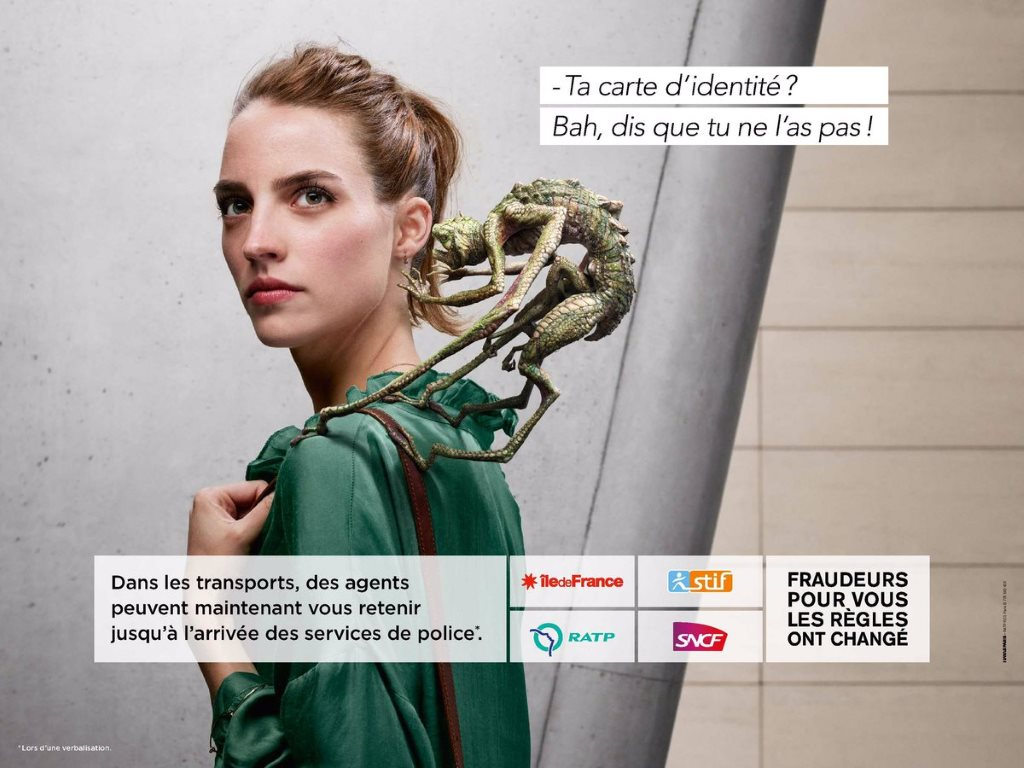 stoplafraude : la campagne anti-fraude de la ratp avec des dragons (2016) : la police