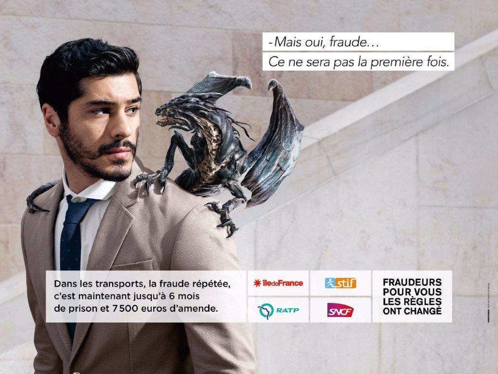 stoplafraude : la campagne anti-fraude de la ratp avec des dragons (2016) : la prison