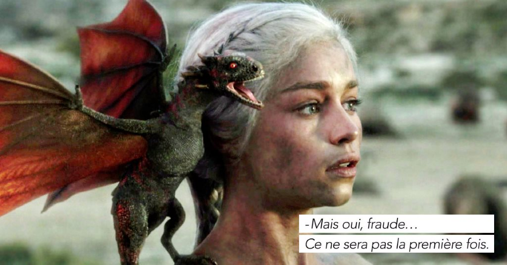 StopLaFraude, parodie de la pub fraude ratp dragon : Daenerys Targaryen Khaleesi