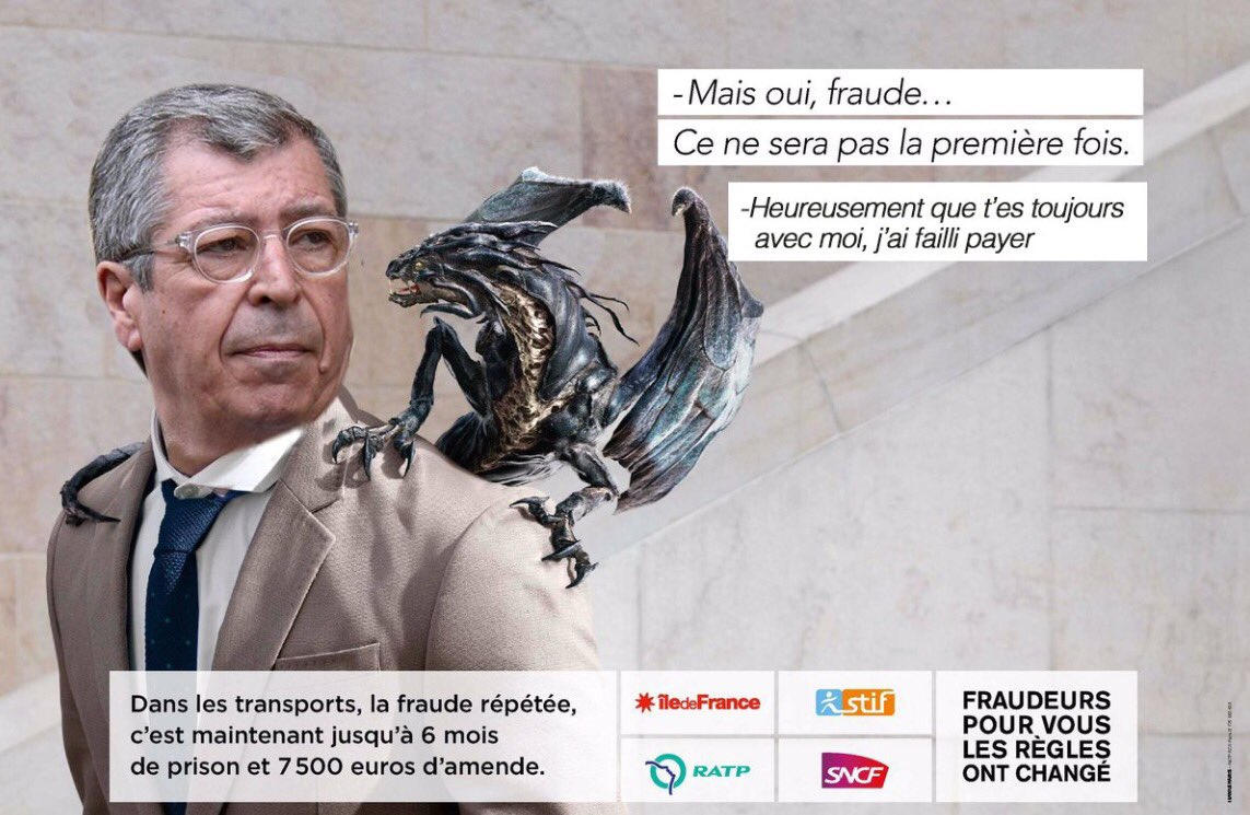 StopLaFraude, parodie de la pub fraude ratp dragon : Patrick Balkany