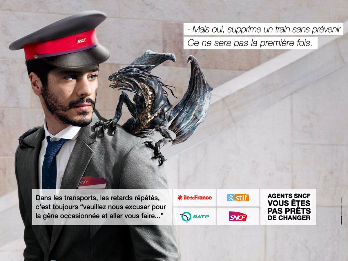 StopLaFraude, parodie de la pub fraude ratp dragon : retad sncf