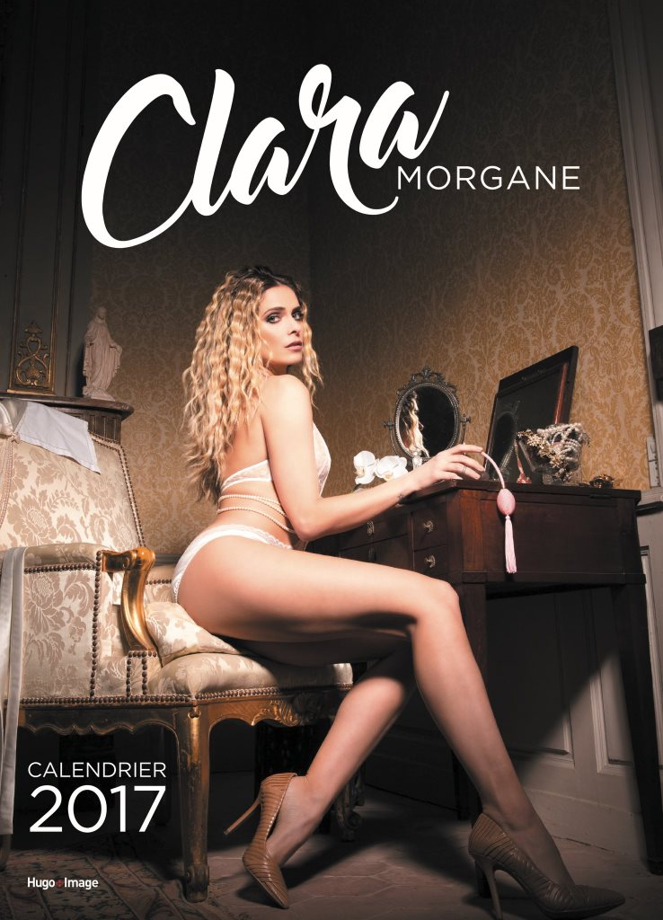 Couverture définitive du calendrier sexy de Clara Morgane 2017