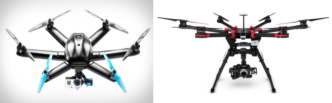 drone Hexacoptère ou Octocoptère