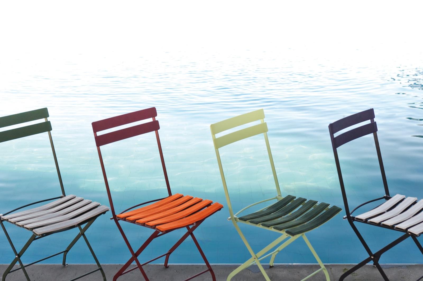 chaises de jardin design et colorées
