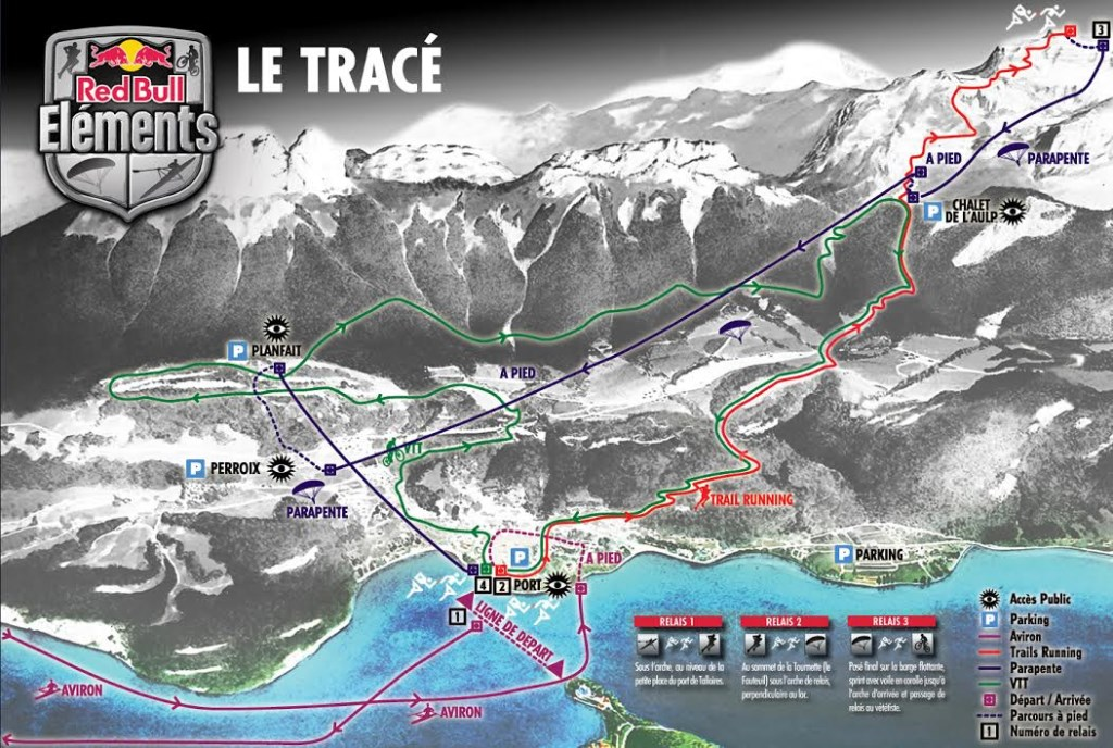 tracé parcours red bull elements 2016