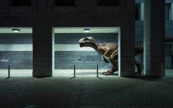 Photomanipulation : quand des dinosaures débarquent à la Défense