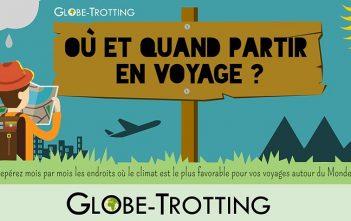 Où quand partir en voyage infographie globe-trotting.com