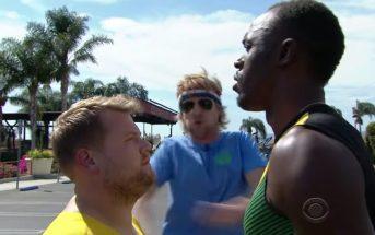 Quand Owen Wilson et James Corden défient Usain Bolt au 100m