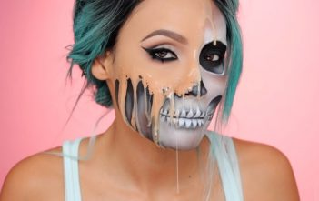 Halloween 2016 : l'horrible tuto maquillage tête de mort de Desi Perkins