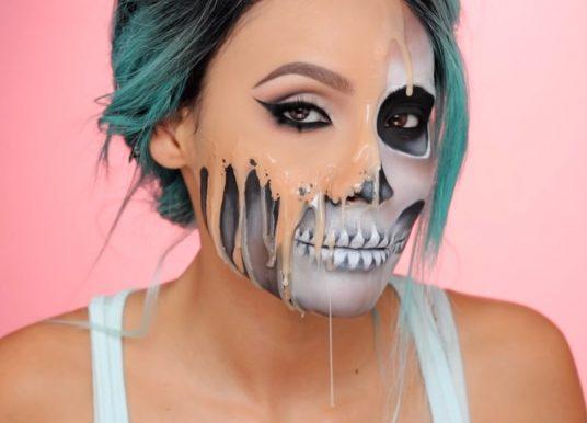 Halloween 2016 : l'horrible tuto maquillage tête de mort de Desi Perkins