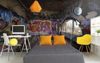 Papier peint graffiti : un style urbain pour votre déco