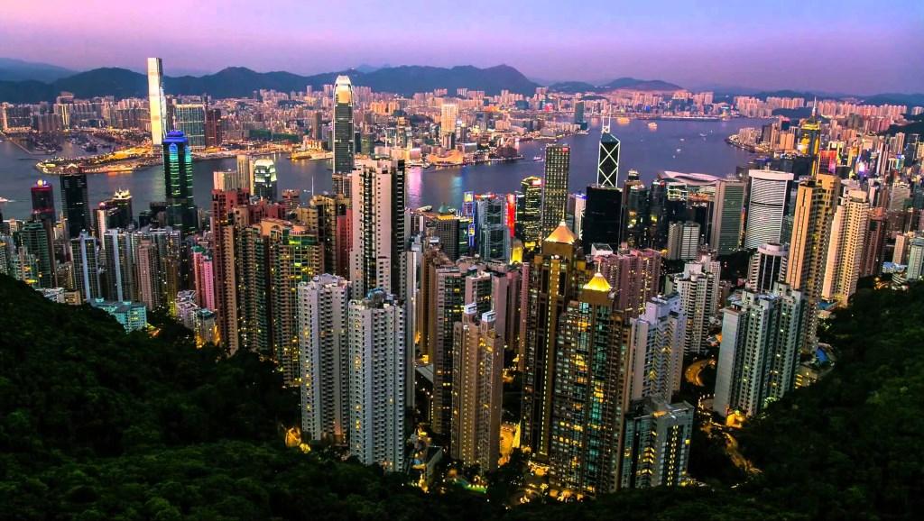 vue panoramique sur Hong-Kong depuis Victoria Peak