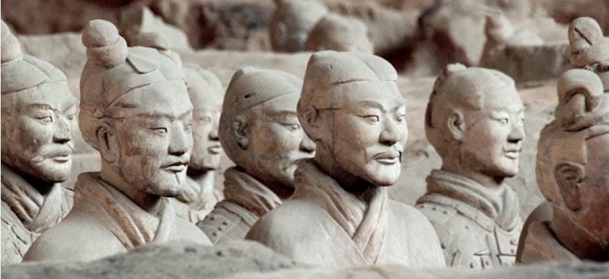 mausolée de l'empereur Qin en Chine