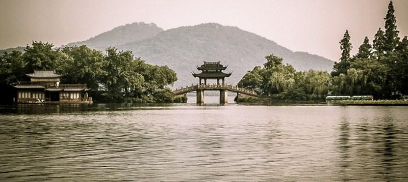 lac de l'Ouest en Chine