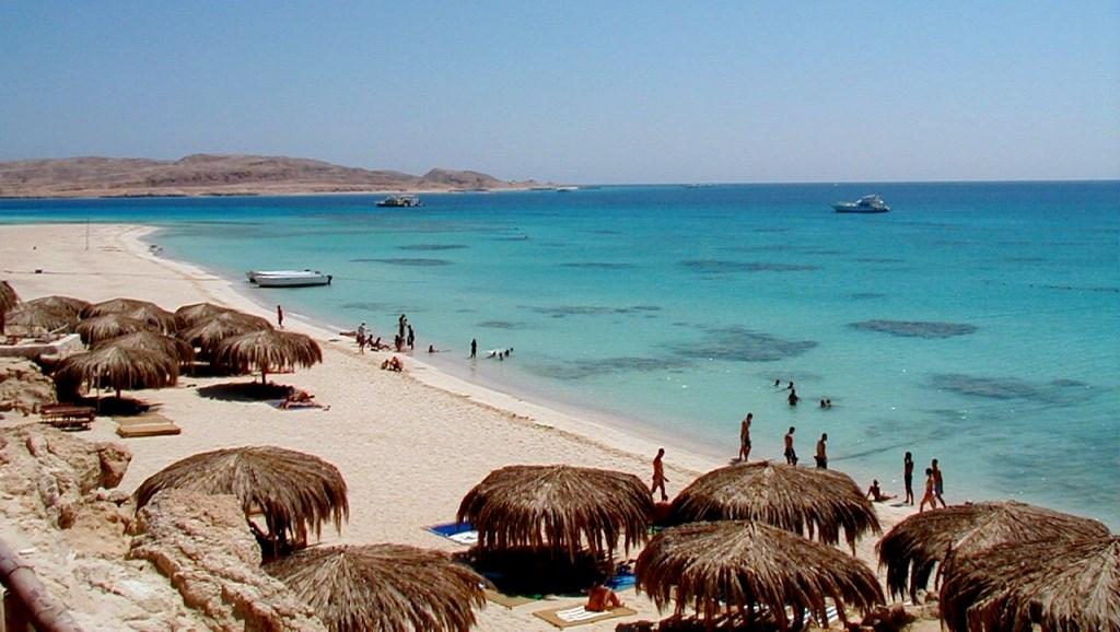 plage à Hurghada en Egypte
