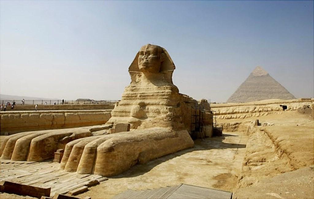 Le sphinx de Gizeh en Egypte