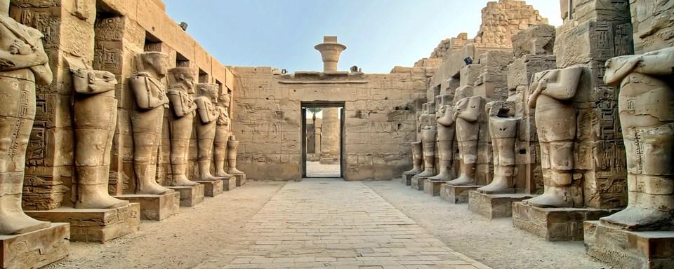 Le temple de Karnak en Egypte