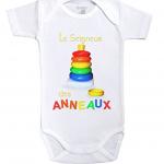 body seigneur des anneaux-body-bebe-manches-courtes baby geek