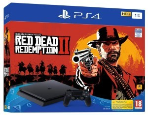 PS4 Slim 1 To E noir + Red Dead Redemption 2