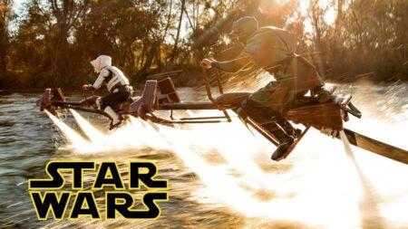 Star Wars - Speeder Bike Jetovator Battle in Real Life!