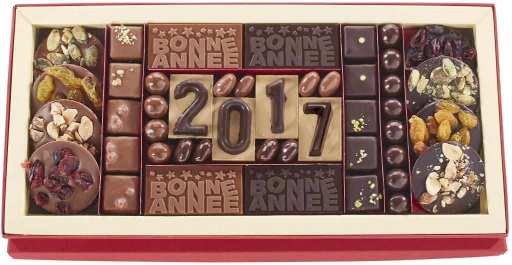 boite de chocolat bonne année 2017