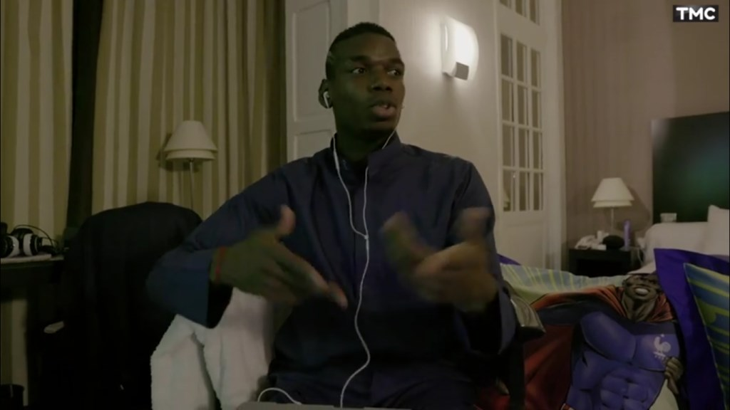 Paul Pogba fait un freestyle de rap à l'Euro 2016
