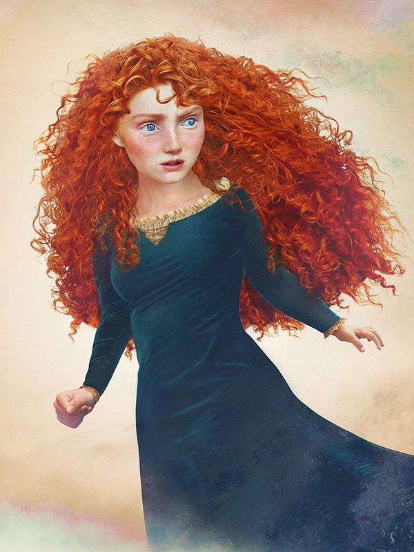 Les princesses Disney réelles : Rebelle dessinée comme une vraie femme (2012)