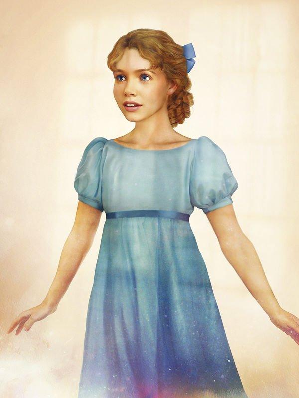 Les princesses Disney réelles : Wendy dessinées en vraie petite fille - Peter Pan (1953)