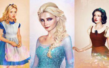 Les princesses disney réelles : les dessins / illustrations de Jirka Väätäinen