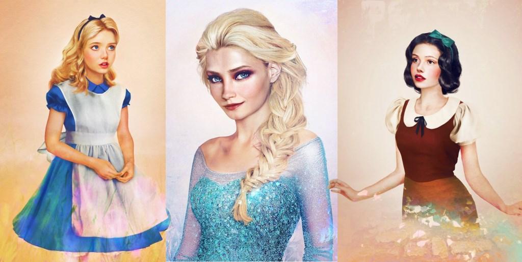 Les princesses disney réelles : les dessins / illustrations réalistes de Jirka Väätäinen