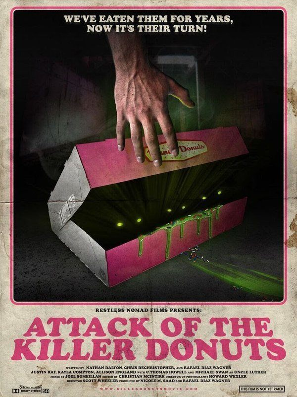 attack of killer donuts - poster