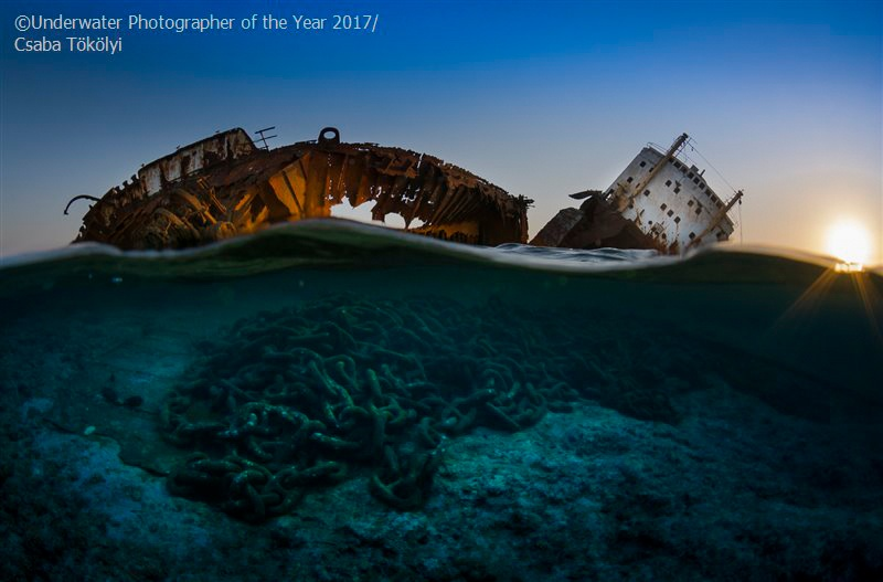 Wrecks WINNER: The wreck of the Louilla at sunset by Csaba Tökölyi
