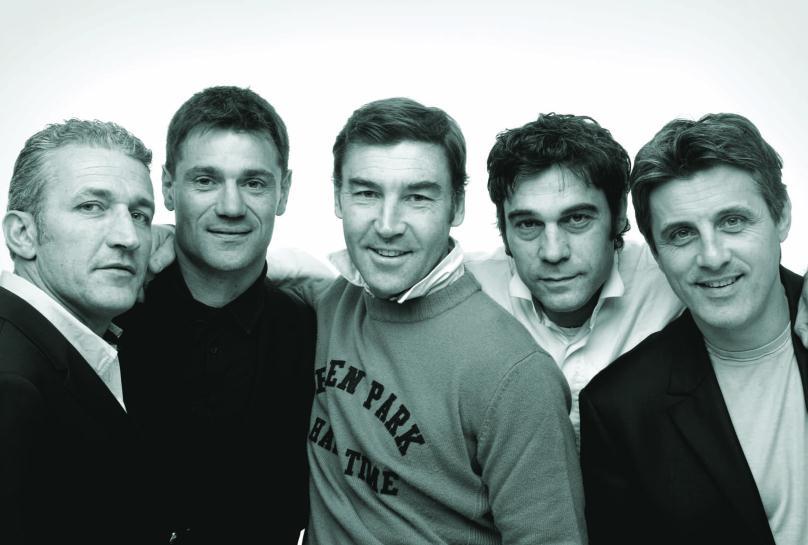 Eden Park : Franck Mesnel, Éric Blanc, Philippe Guillard, Yvon Rousset et Jean-Baptiste Lafond