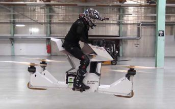 Hoverbike : une moto drone volante comme dans Star Wars