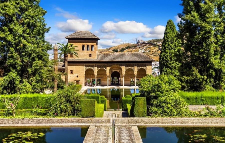 Jardins de l'Alhambra, Grenade, Espagne