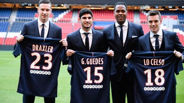 bilan du mercato d'hiver 2017 au Paris SG : Draxler, Guedes et Lo Celso