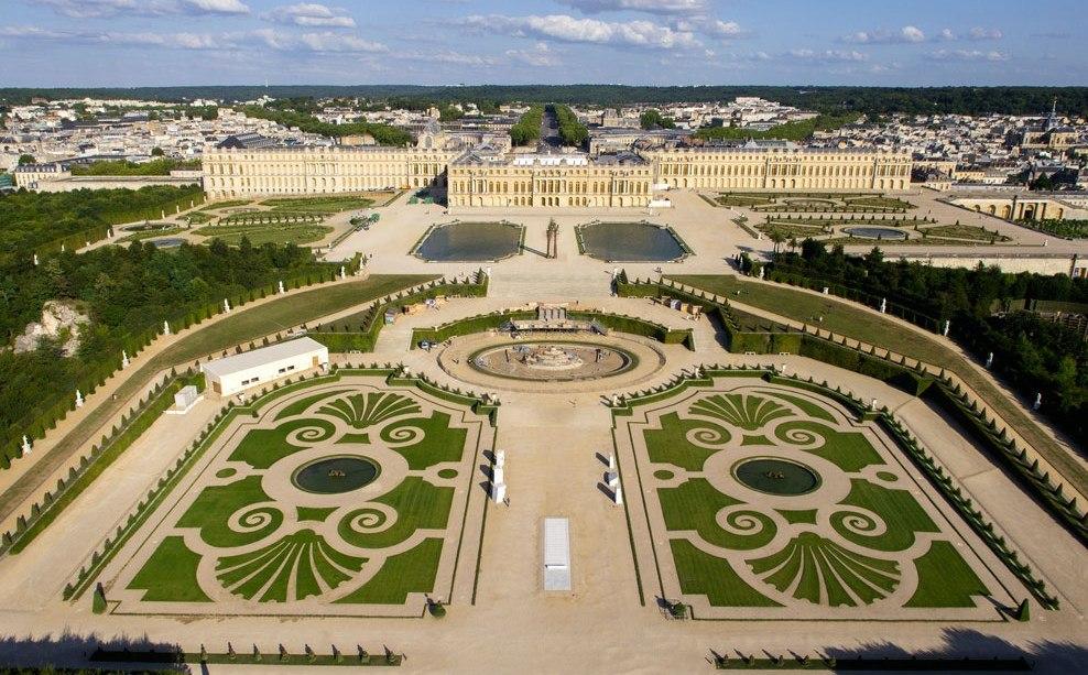 """château de Versailles et son jardin """"à la française"""