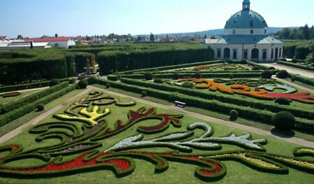 jardin baroque de Kromeriz