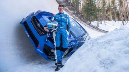 Boxersled! Mark Higgins descend une piste de bobsleigh en Subaru WRX STI